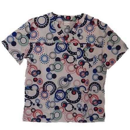 Μπλούζα-εμπριμέ κυκλάκια